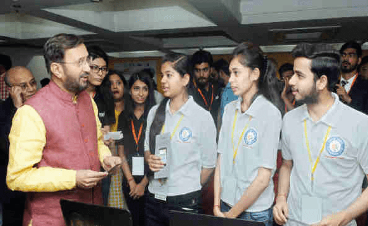 SIH 2018 Grand Finale - Ministers Interacting with Students